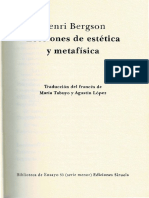 Bergson Estética