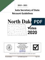 North Dakota Recount Guidelines