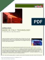 Digimag 37 - September 2008. Massimo Banzi & Arduino
