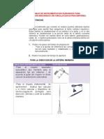 Guia de Manejo de Instrumentacion Quirurgica Revascularizacion de Miocardio - Sin Cec