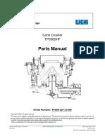 TP350SHF Cone Crusher Parts Manual TP350-227-J1349