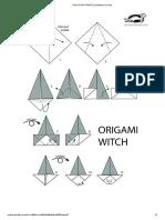 origami bruxa