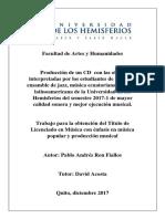 Proyecto. DC DE RECITALES DE UNA UNIVERSIDAD