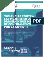 VIOLENCIAS CONTRA LAS MUJERES EN LOS PRIMEROS TRES MESES DE CONFINAMIENTO POR LA COVID-19
