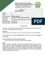 2° Guía 01 Lengua Castellana