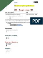 Modèle de Compte-rendu de Réunion [Gestiondeprojet.pm] Modèle Public