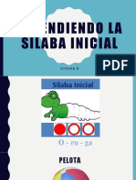 Aprendiendo la sílaba inicial