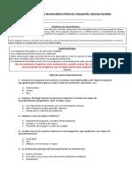 Evaluación Formativa Quinto Básico Historia y Geografía