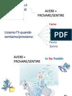 AVERE come SENTIRE, PROVARE.pdf