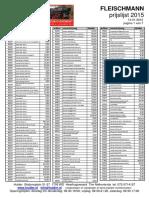 Fleischmann pricelist 2015