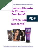 Hidraliso Alisante de Chuveiro Funciona