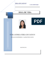 hoja de vida YURI ANDREA FERIA ESCANSON