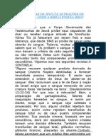 TESTEMUNHAS DE JEOVÁ E AS FRAÇÕES DE SANGUE