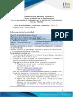 Guía de actividades y rúbrica de evaluación - Tarea 5 - Proyecto Final - Recurso digital