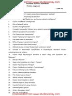 CBSE Class 12 Psychology - Revision