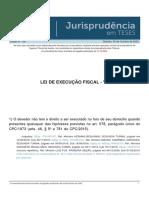 Jurisprudencia em Teses 159 - Lei de Execucao Fiscal - VI