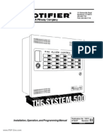 Notifier - System 500 Installation Operation and Programming