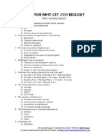 Prof. Rohan Shenoy's Test-series for MHT-CET Biology - 2009 - Archived Questions for Practice Scribd