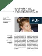Administration De Benzodiazépines Chez Les Jeunes Enfants