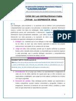 INVESTIGACIÓN DE LAS ESTRATEGIAS PARA INCENTIVAR  LA EXPRESIÓN ORAL