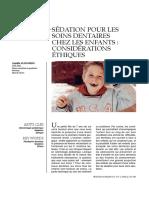 Sédation Pour Les Soins Dentaires Chez Les Enfants