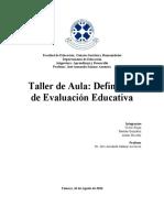 TALLER N 1 EVALUACIÓN EDUCATIVA