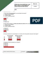 Template de Relatório de Aulas Práticas - Química Geral e Experimental