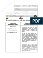 Principales elementos de la Antropología Teológica (1)