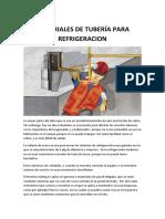 MATERIALES DE TUBERÍA PARA REFRIGERACION