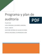 Taller Aa2 Programa y Plan de Auditoría