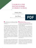 Le salaire de la peur - Perception du risque sur les forums et les blogs. Par Nathalie Brion et Jean Brousse, co-présidents de Tendances Institut