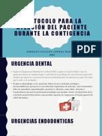 Protocolo para la atención del paciente durante la contigencia