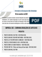 IDNS 005/20 Informativo de Declaração de Não Similaridade