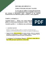 Historia de México 1. Corte 2, Entrega 1.