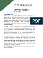 5 LEYES BIOLOGICAS DR. HAMER. PUBLICACION