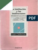 3. Kaes, Rene y Otros - La institución y las instituciones (Prefacio)