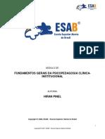1. MÓDULO 1 - FUNDAMENTOS GERAIS DA PSICOPEDAGOGIA CLÍNICA INSTITUCIONAL