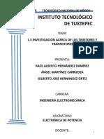 TIRISTORES Y TRANSISTORES