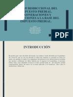 BASE JURISDICCIONAL DEL IMPUESTO PREDIAL  EXONERACION Y DEDUCIÓN -GRUPO 1