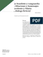 Modernismo brasileño y vanguardia argentina