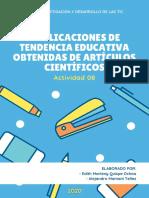 5 APLICACIONES DE TENDENCIA EDUCATIVA OBTENIDAS DE ARTÍCULOS CIENTÍFICOS