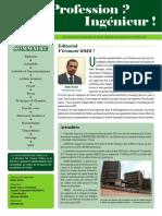 N° 001 Newsletter Octobre 2011