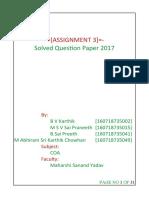 Computer Organization and Architecture [COA] DEC 2017 Solved Question Paper