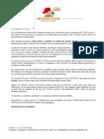 Carta Famílies Posa't La Gorra 2020