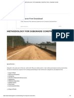 METHODOLOGY FOR SUBGRADE CONSTRUCTION – HIGHWAY GUIDE