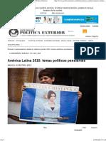 América Latina 2015_ temas políticos pendientes _ Política Exterior