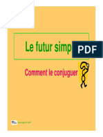 Le futur simple conjugaison