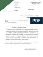 TRANSMISSION DE LETTRE