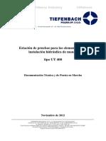 DTR Banco de Pruebas TIEFENBACH ESP