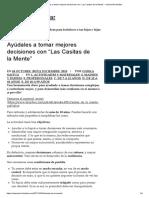 """Ayúdales a tomar mejores decisiones con """"Las Casitas de la Mente"""" – educación familiar"""